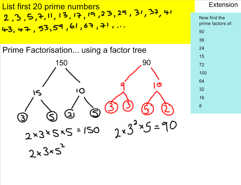 write as a product of prime factors In mathematics, the prime factors decomposition (also known as prime integer  factorization) consists in writing a positive integer with a product of prime factors.